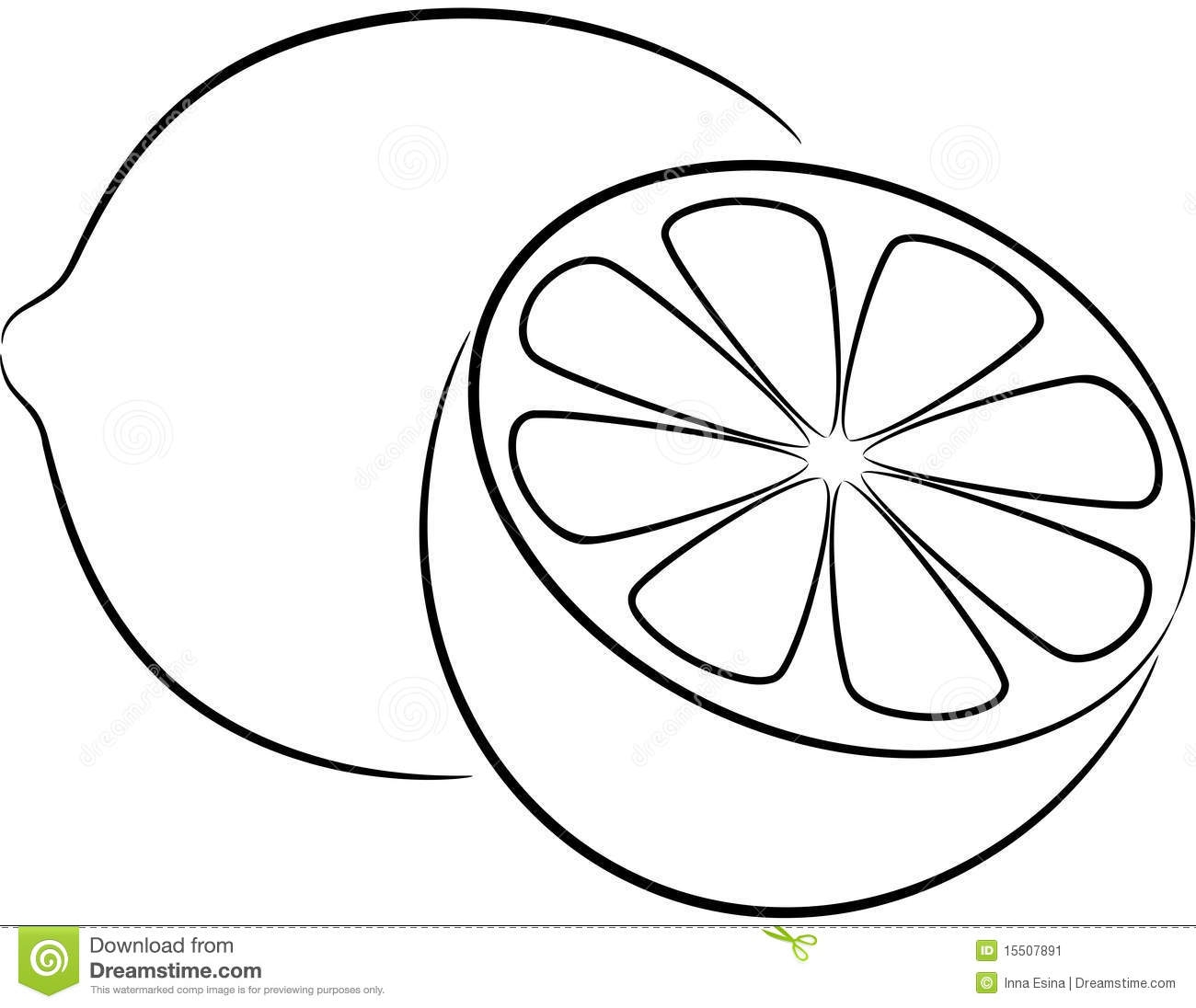 Library Of Lemon With Leaf Picture Freeuse Download Black