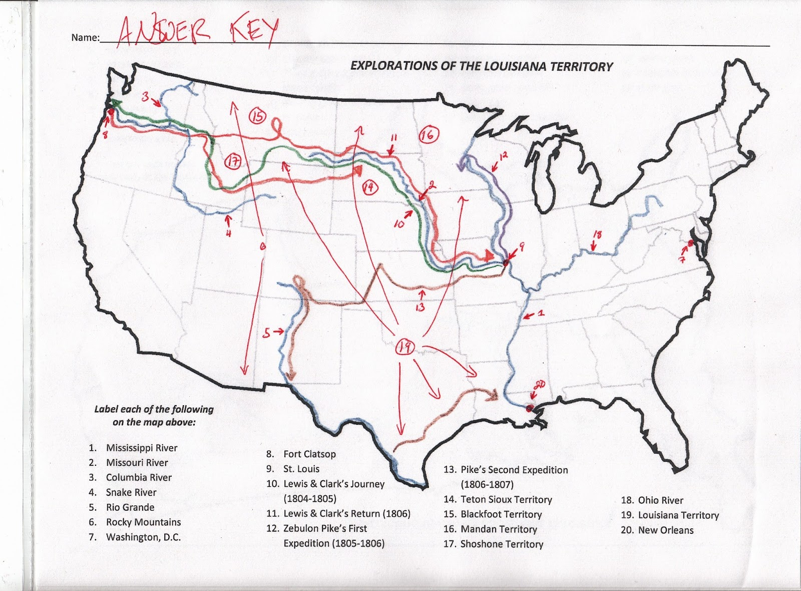 Library Of Lewis And Clark Map Rivers Rocky Mountains Svg