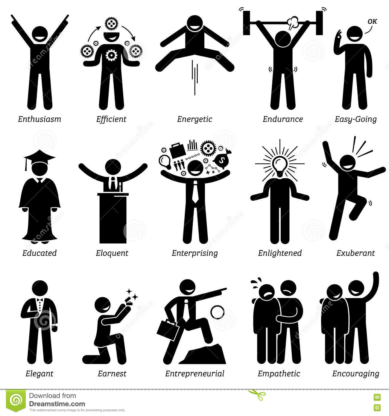 Library Of Main Character Traits Royalty Free Download