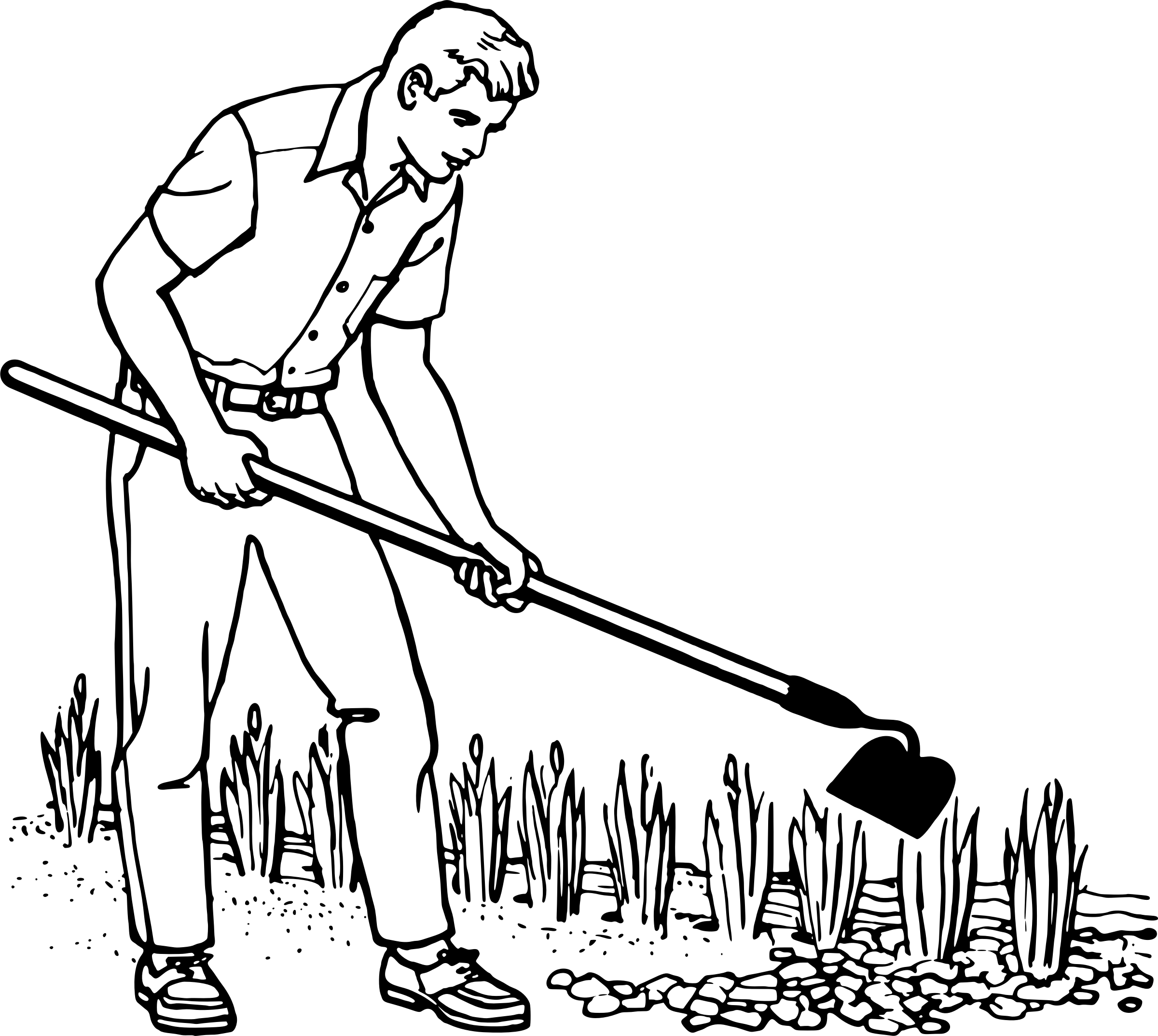 Library Of Man Gardening Picture Transparent Files