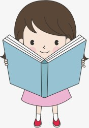 reading clipart banner