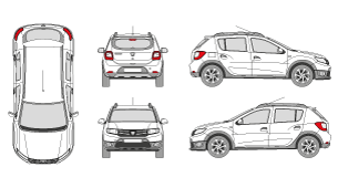 Library of renault sandero clipart freeuse library png