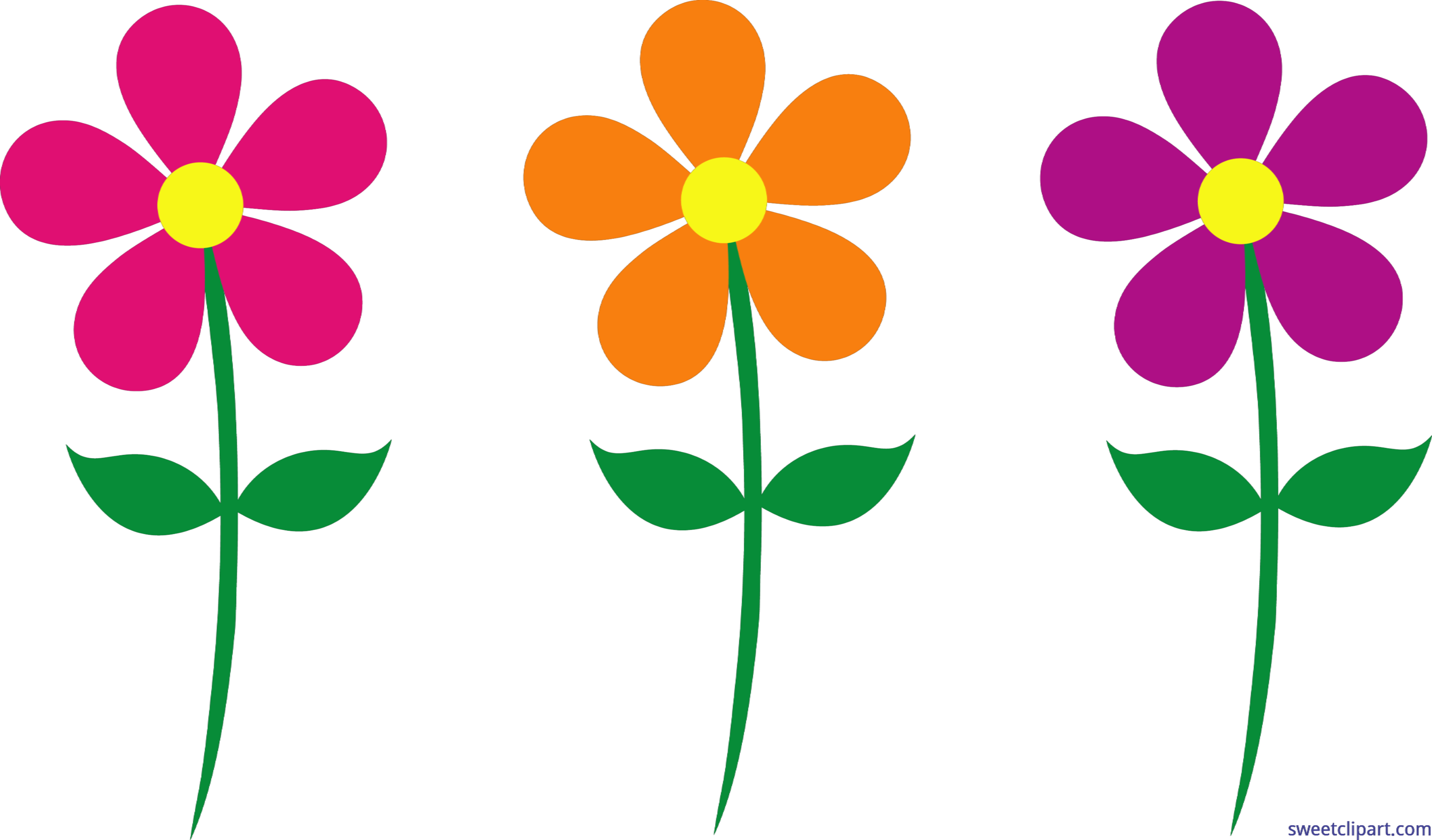 Library Of Set Of Flowers Vector Transparent Stock