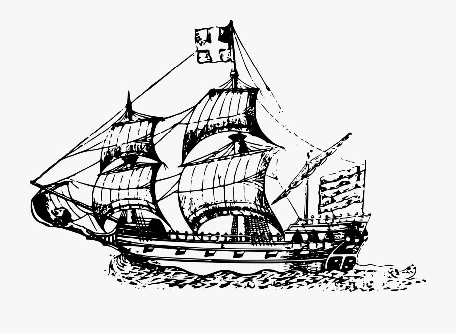 Library of ship of the line black and white library png