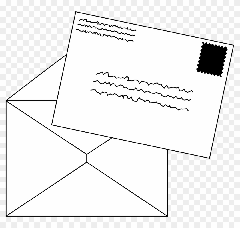 Library of stamped envelope vector royalty free stock png