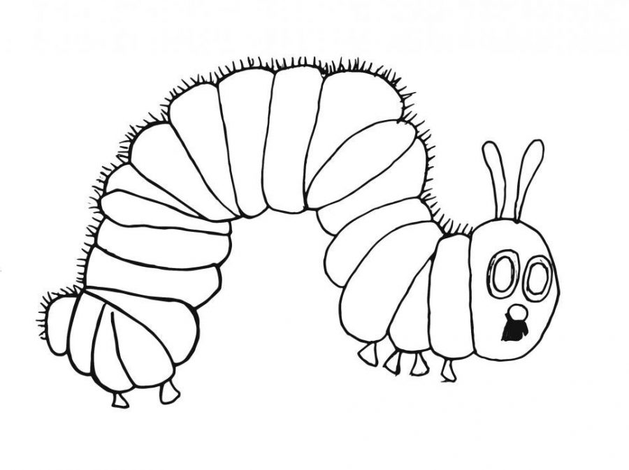 Library of the very hungry caterpillar black and white