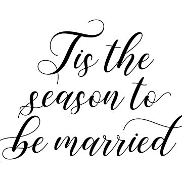 Library of tis the season to be married vector transparent