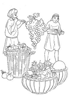 Library of two men carrying grapes graphic freeuse