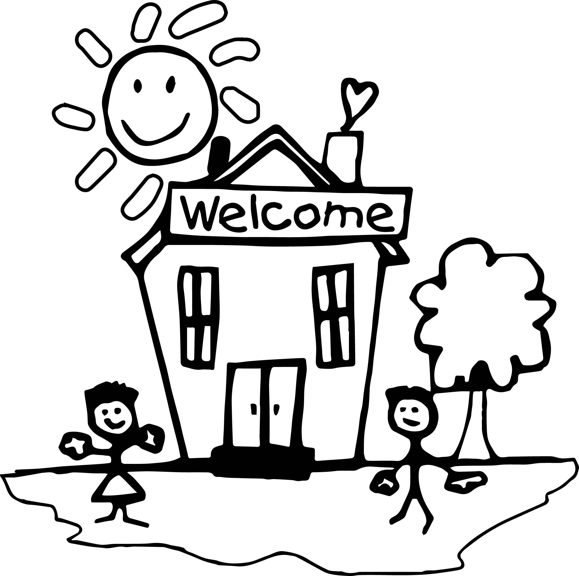 Library of welcome back to kindergarten clip art black and