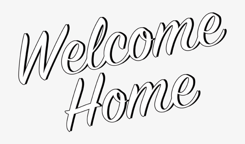 Library of welcome home sign graphic black and white