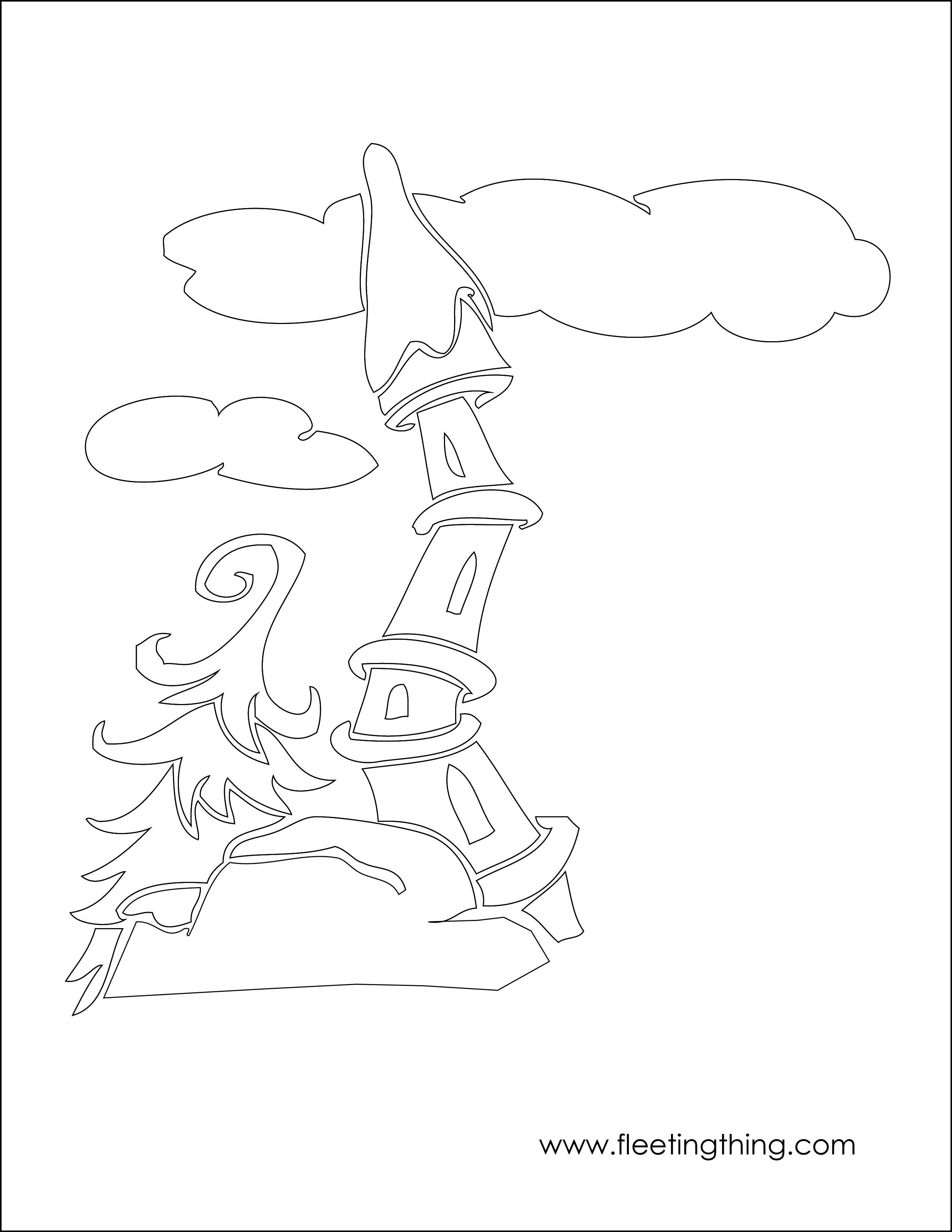 Library Of Whoville Characters Vector Black And White