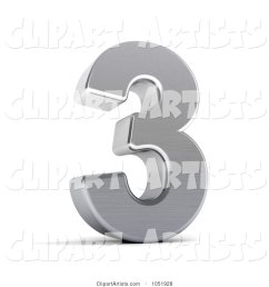 3d 3d chrome symbol number 3 by stockillustrations artist 101 [ 1024 x 1044 Pixel ]