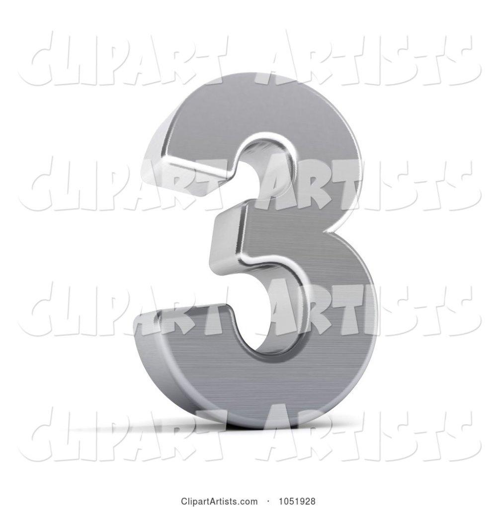 medium resolution of 3d 3d chrome symbol number 3 by stockillustrations artist 101