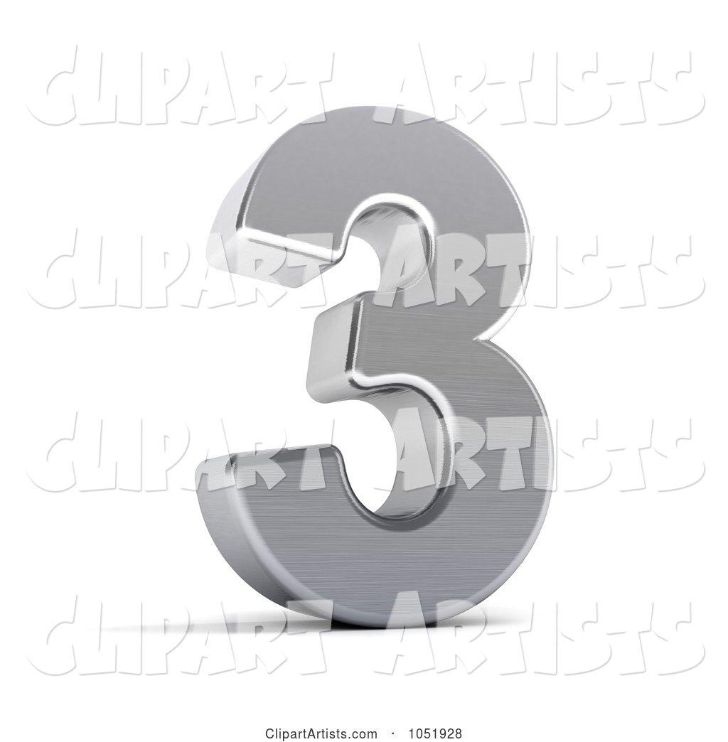 hight resolution of 3d 3d chrome symbol number 3 by stockillustrations artist 101