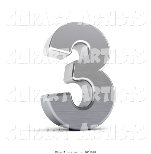 small resolution of 3d 3d chrome symbol number 3 by stockillustrations artist 101