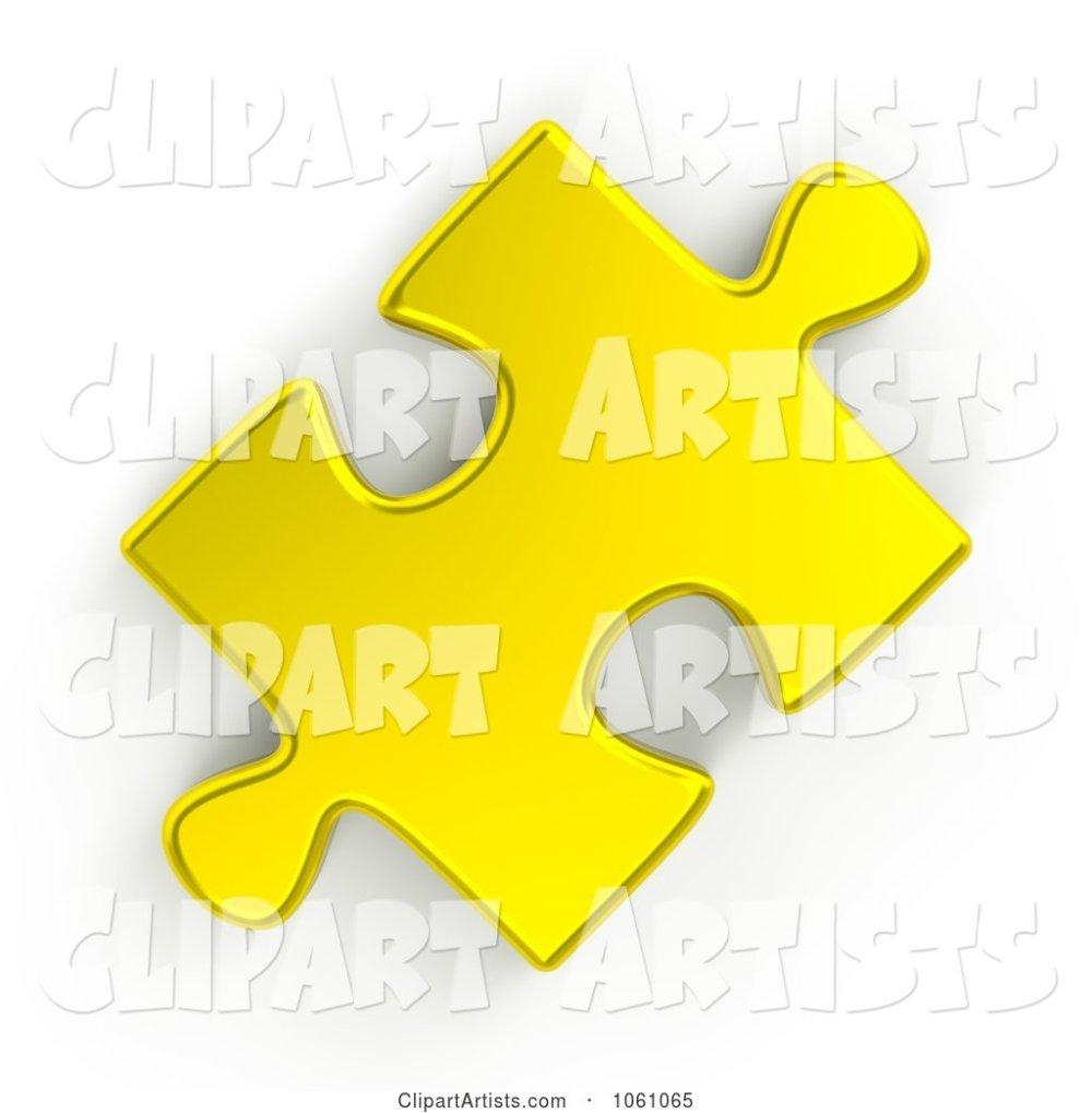 medium resolution of 3d 3d golden jigsaw puzzle piece by shazamimages artist 133