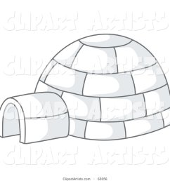 igloo with gray shadows [ 1024 x 1044 Pixel ]