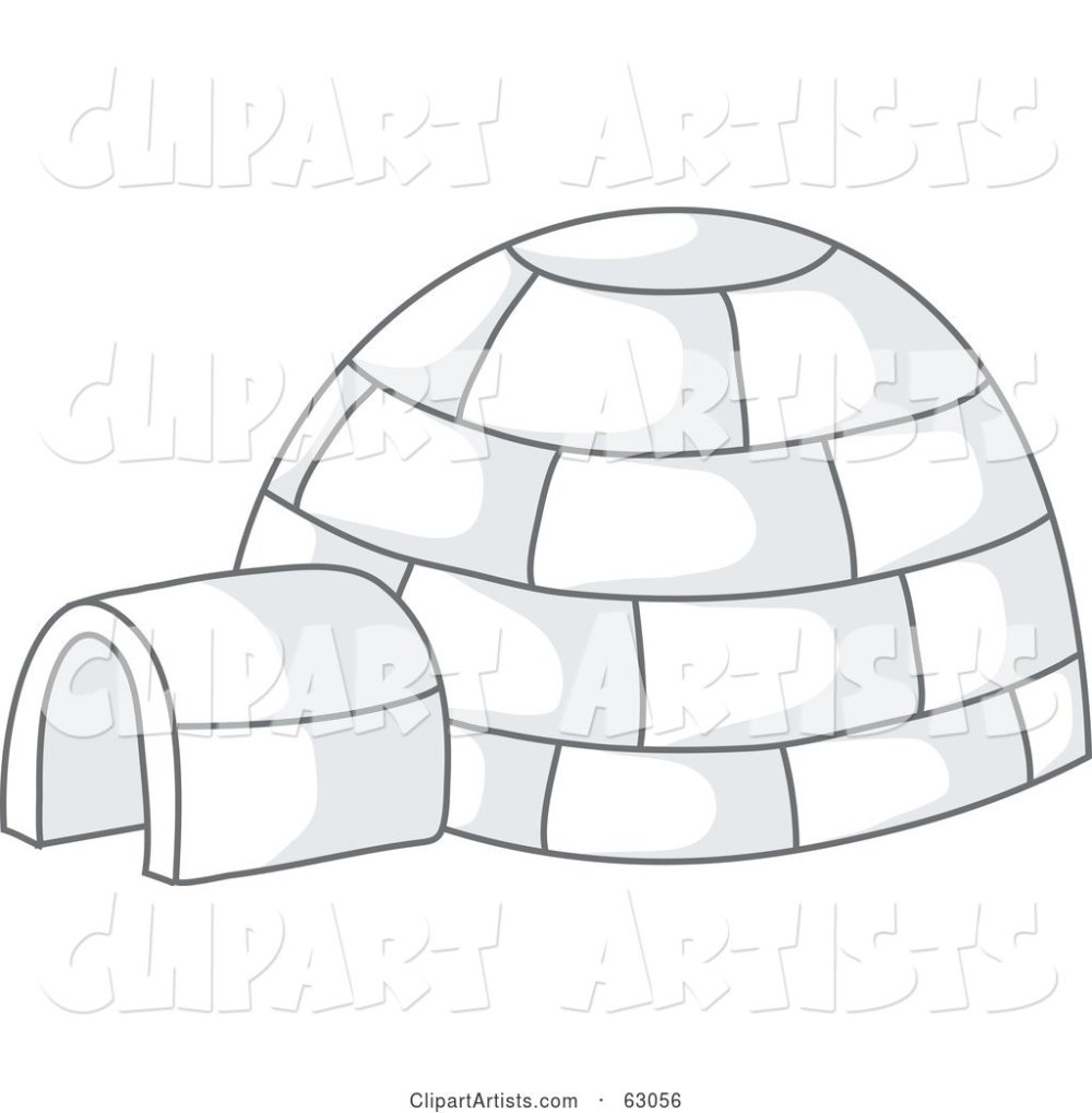 medium resolution of igloo with gray shadows