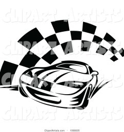 black and white race car and checkered flag 2 [ 1024 x 1044 Pixel ]