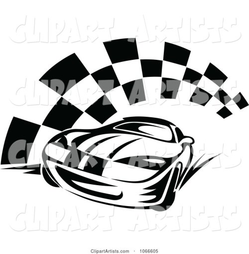 small resolution of black and white race car and checkered flag 2