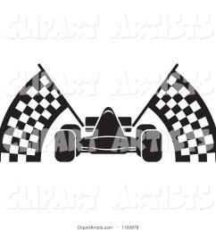black and white race car with checkered flags [ 1024 x 1044 Pixel ]