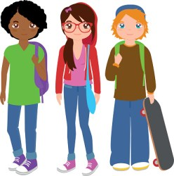 clip student students clipart highschool cliparts library vector teenager illustration