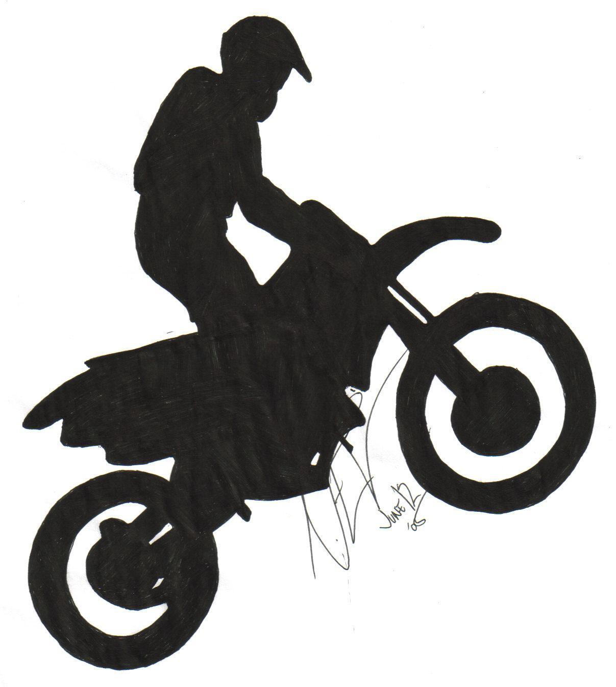 Simple Dirt Bike Drawings Outline Www Topsimages Com