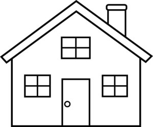 drawing simple clipart outline children homes
