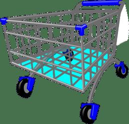 shopping trolley cartoon clipart clip