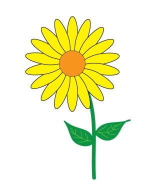 flower simple objects clipart clip yellow flowers single cliparts illustrator library computer designs