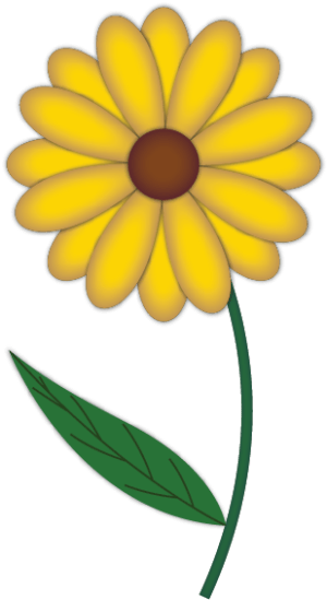 flower draw simple drawing drawings yellow flowers illustrator clipart learn cliparts mameara clip clipartbest library computer designs