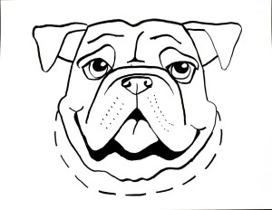 line simple drawings animals dog draw computer bull cliparts clipart designs