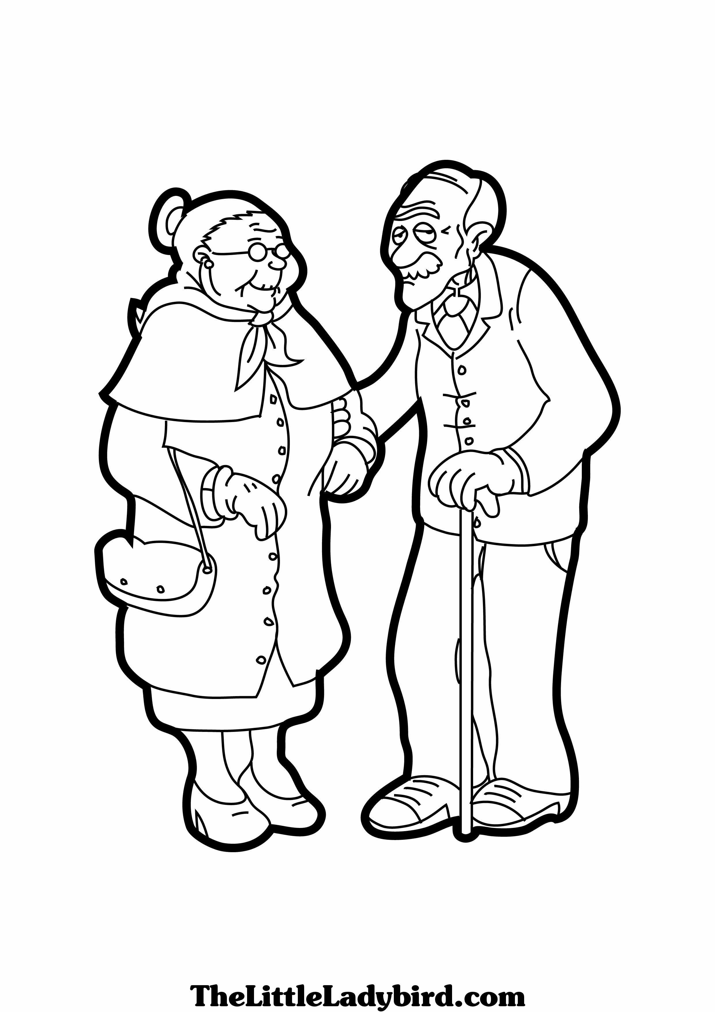 Helping Grandparents Coloring Pages Coloring Pages