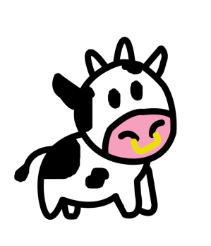 cow drawings clipart easy clip