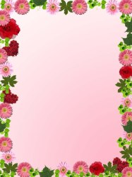 border flower frame clipart simple flowers floral clip borders pink cliparts designs library vector