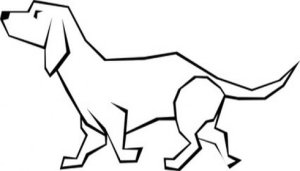 dog simple drawing drawings dogs line clipart clip graphics vector easy cliparts clipartbest library kindergarten worksheet guide clipartmag cowardly courage