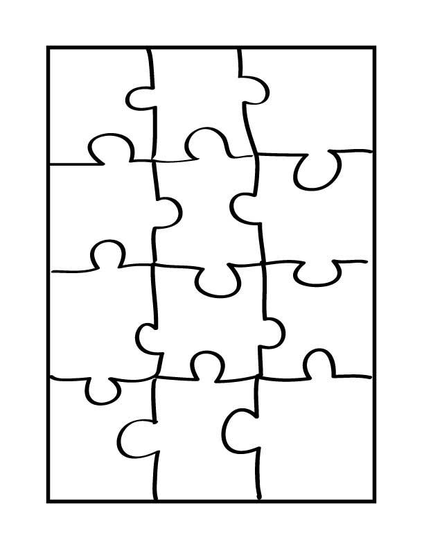 Free Clip Art Puzzle Pieces : puzzle, pieces, Puzzle, Pieces, Template, Download, ClipArt