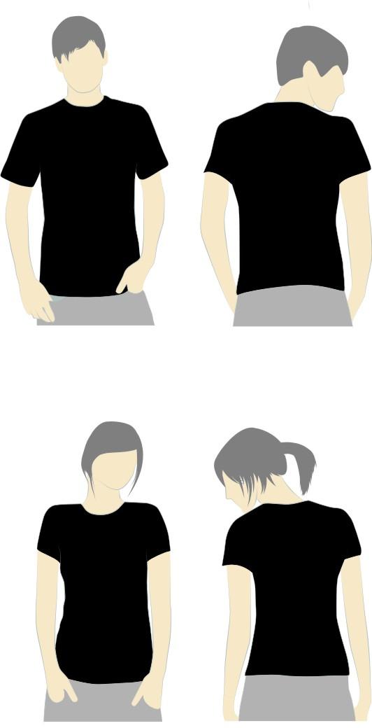 Kaos Polos Hitam Belakang : polos, hitam, belakang, Design, Hitam, Polos, ClipArt