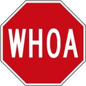 Whoa Stop Sign  18x18  Amazon  Clipart Best  Clipart Best