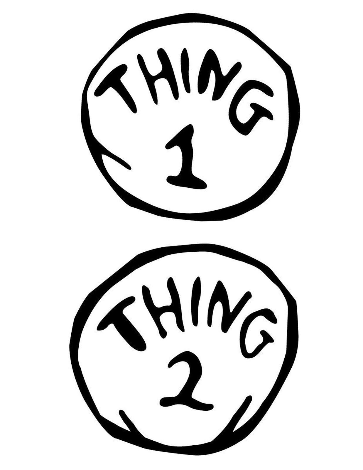 Thing 1 And Thing 2 Clip Art : thing, Thing, Printable, Image, ClipArt