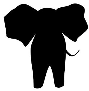 silhouette elephant simple animal clipart silhouettes clip animals elephants zoo cliparts transparent easy clipartqueen getdrawings faces frogs safari african library