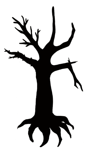 silhouette tree outline tattoo simple clipart evergreen clip roots cliparts designs oak library tattoos deviantart attribution forget link don getdrawings
