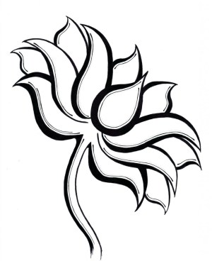 lotus flower drawing simple line flowers draw drawings easy clipart cliparts clip getdrawings designs clipartmag clipartbest