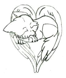 wolf heart drawing clipart shaped dragoart clipartbest