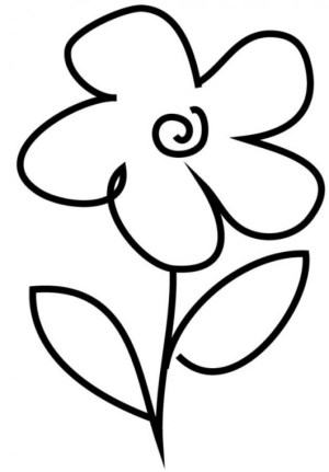 flower simple drawings coloring pages easy cliparts printable clipart preschool very computer designs