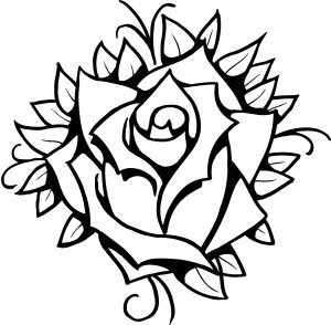rose drawing traditional clip easy roses draw line clipart