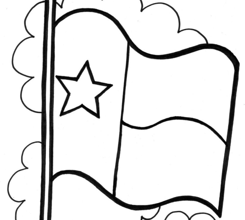 texas state flag coloring page sketch coloring page
