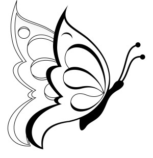 butterfly drawings easy clipart butterflies drawing simple outline flower flowers line pencil designs