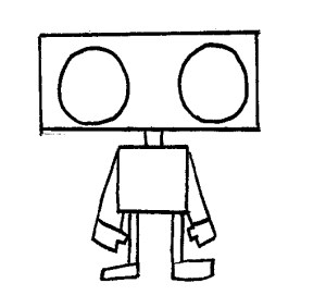 robot drawing robots easy drawings shape clipart simple shapes cartoon draw outline epic roboto cropped line clipartmag manila gears blueprint