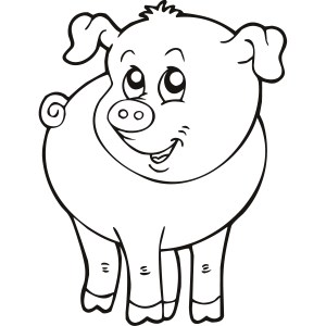 simple animals line drawings clipart animal farm clip pig